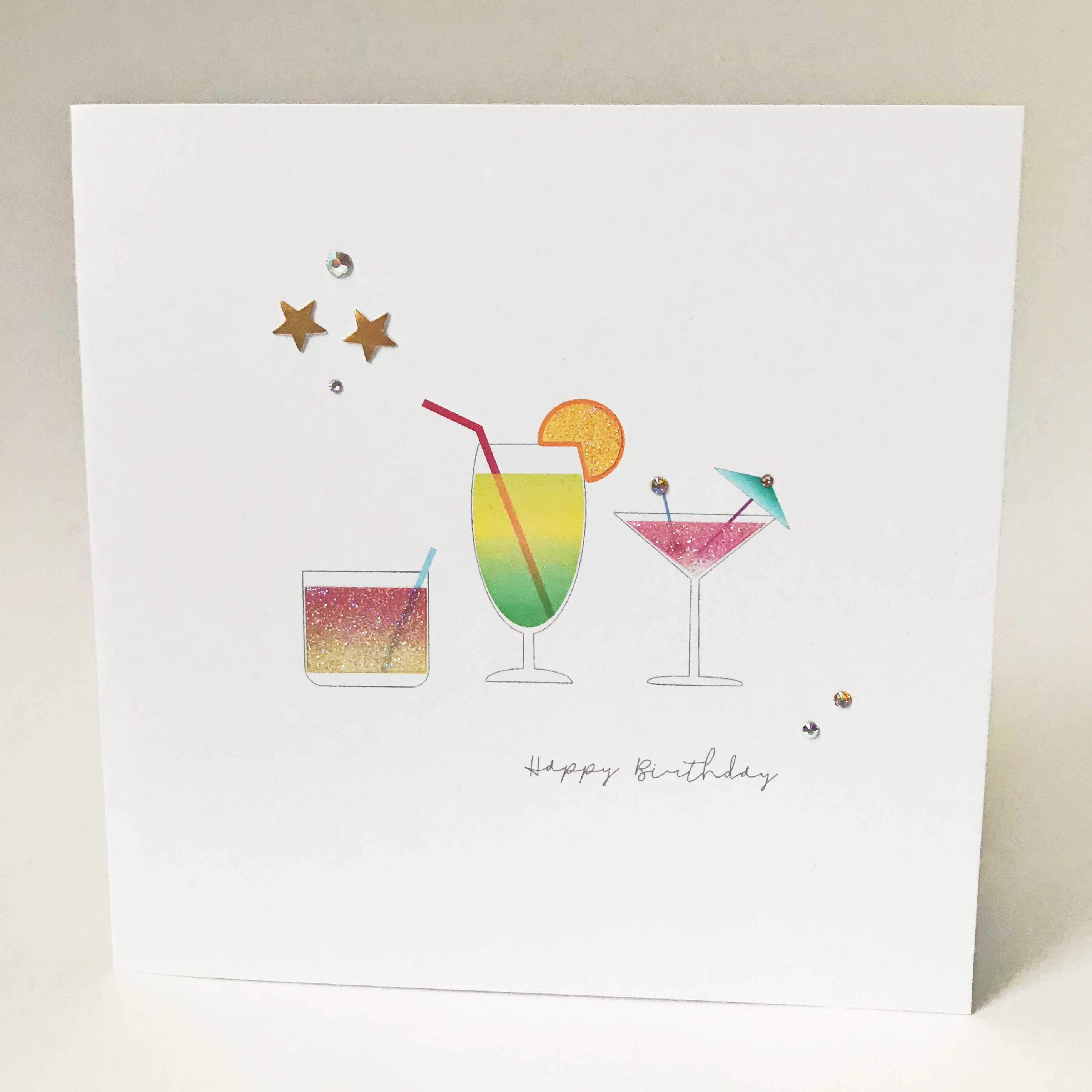 Happy Birthday Cocktails Card Numonday